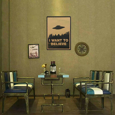 "Classic Vintage Poster ""I Want To Believe"" Wall Stickers Room Decal Bar Decor"