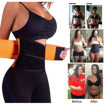HOT Best Waist Trainer for women Sauna Sweat Thermo Yoga Sport Shaper Belt Fajas