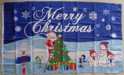 Merry Christmas Flag Large Santa North Pole Flag  AUSPOST REGISTERED TRACKING