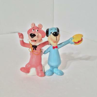 Hanna Barbera 23402 HUCKLEBERRY HOUND & SNAGGLEPUSS Ceramic Magnetic S&P Shakers