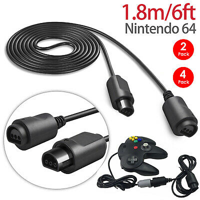 4-pack Controller Game Extension 6 Foot Cable Cord for Original Nintendo 64 N64