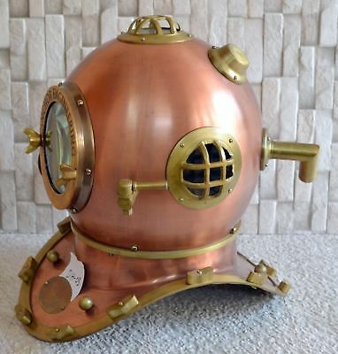 Antique Divers Scuba Diving 'Helmet Marine Anchor Engineering 1921 Maritime 18'