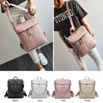 Rucksack Leather Shoulder Women Backpack Bag Satchel Travel School College Bags