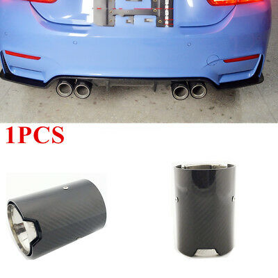 Car Carbon Fiber Steel Exhaust End Tail Tips For BMW M2 M3 M4 M5 F80 F82 F83