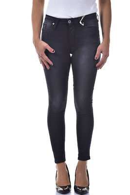 Jeans Please Cotone MADE IN ITALY Donna Giallo P78LEG5M07