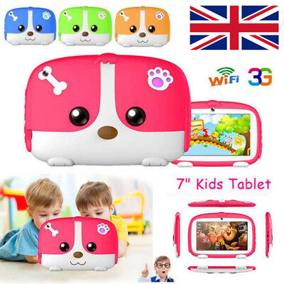 "7"" inch Kids PC Tablet Android 4.4 Dual Camera Quad Core 8GB WiFi Child Xma Gift"