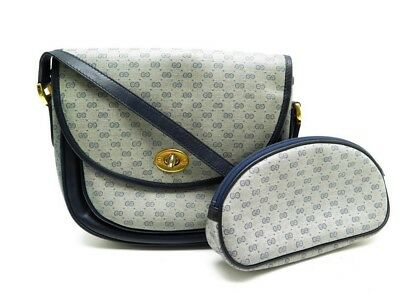 Vintage Sac A Main Gucci Bandouliere + Trousse Toile Monogrammee Gg Purse  Clutch d9848f50fba