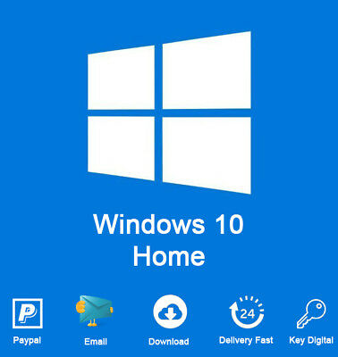 Windows 10 Home 32/64 bit License Key Activation For Code 1PC Genuine