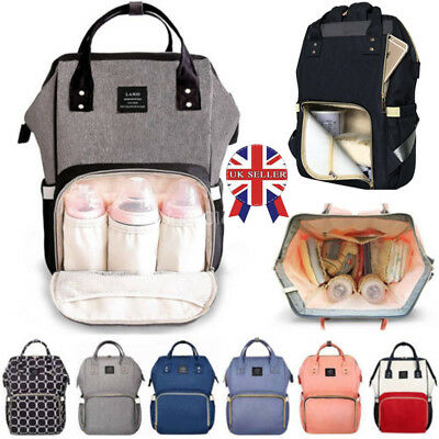 LAND Waterproof Large Baby Diaper Nappy Backpack Mummy Mom Changing Travel Bag##