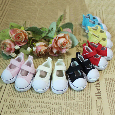 6*2.8cm 1 Pair 2.8*6cm Cute CaCanvas Flat/Shoes For Doll Paola Reina Dolls Shoes
