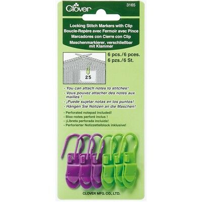 Locking Stitch Markers W/clips-6/pkg