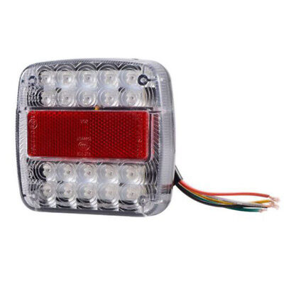 Light Lamp LED Stop Rear Tail Reverse Indicator License Plate Truck ABS DC 12V