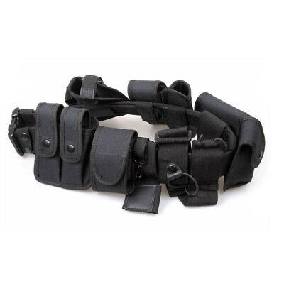 Enforcement Tactical Nylon Belt Equipment Adjustable Black Accs Gear For Police