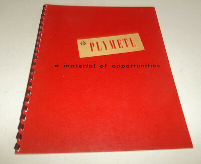 Excellent Vtg 1946 Plymetl Advertising Book - Haskelite Manufacturing Co