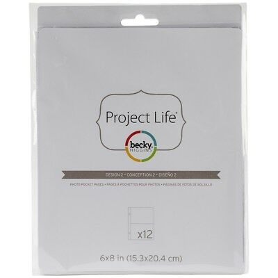 "Project Life Photo Pocket Pages 6""x8"" 12/pkg-design 2"