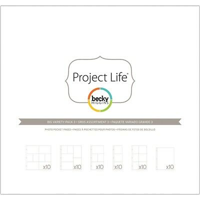 """Project Life Photo Pocket Pages 12""""x12"""" 60/pkg-big Variety Pack 3"""