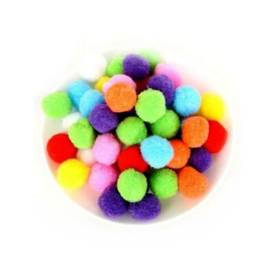 25 x Mixed 20mm Fluffy Yarn Pom Poms For Sewing, Cardmaking & Crafts Y13615