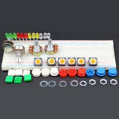 Generic Parts Kit + Power Module+ Breadboard+Flexible Cables + Jumper Wire Box