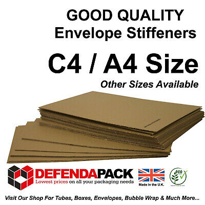 125 X C4 / A4  ENVELOPE STIFFENERS 310x215mm Corrugated Board Strengtheners