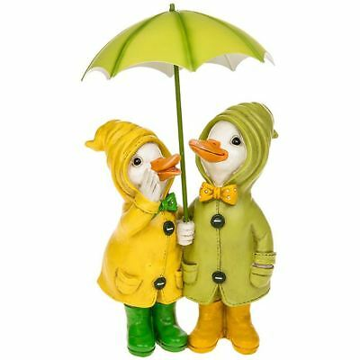 Puddle Duck Couple With Detachable Brolly Home Decor
