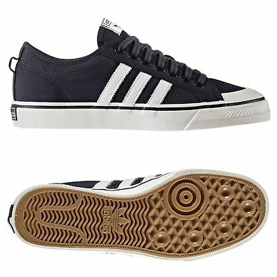 be4ea6bbc58 adidas ORIGINALS NIZZA CANVAS TRAINERS NAVY SNEAKERS SHOES SKATEBOARDING  MEN S