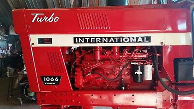 International Farmall 1066 Decals. Black & Chrome. Hood And Numbers. C-Details