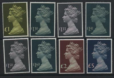 GB 1977-1987 high values to £5 SG1026-1028 MNH unmounted mint set 8 stamps
