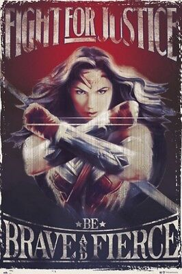 Wonder Woman - Fight For Justice Poster Plakat (91x61cm) #108440