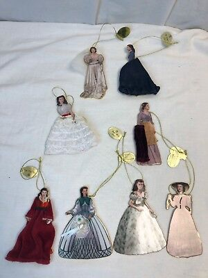 Bradford Legendary of Costumes  Ornaments Gone With the Wind Lot of 8