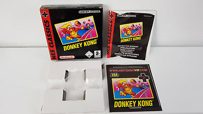 GBA Donky Kong NES Classics Leerverpackung + Inlay - OHNE SPIEL!!!!!!