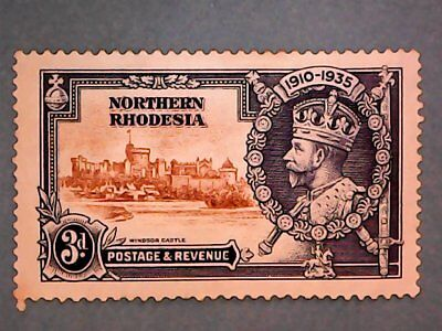 Northern Rhodesia. KGV 1935 3d Silver Jubilee. SG20. P13½ x 14. Mint Hinged.