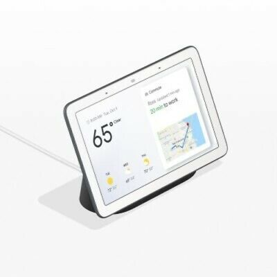 NEW Google Voice control Home Hub with Google Assistant - Chalk (GA00516-US)