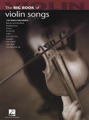 The Big Book of Violin Songs Sheet Music Book 130 Songs Elvis Coldplay E T