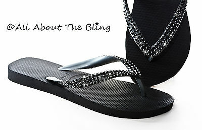 2e5ddf852 HAVAIANAS FLIP FLOPS or Cariris wedge with Swarovski Crystals AB ...