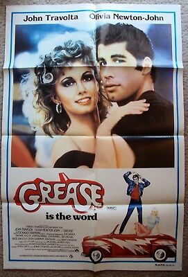 GREASE Original 1-Sheet POSTER Olivia Newton JOHN TRAVOLTA Photo and Artwork '78