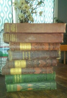 8 Antique Collectible Vintage Old Rare Hard To Find Books 1800's to Early 1900's
