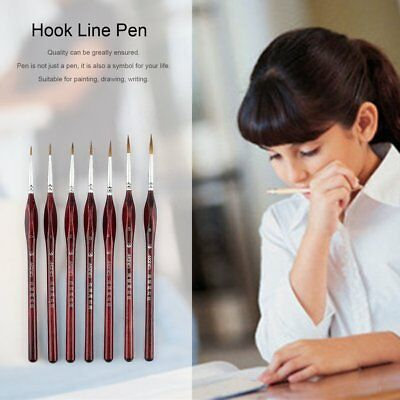 7PCS/SET Professional Fine Hand Painted Miniature Hook Line Drawing Art Pen NC