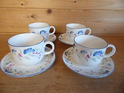 4 x Cups and Saucers - Royal Doulton Expressions Windermere