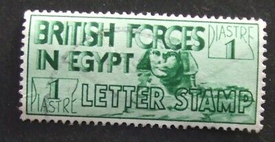 1934 British Forces in Egypt stamp 1 piastre green