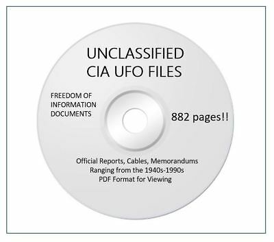 UNCLASSIFIED CIA UFO research docs about UFOs in USA & the world! 882 pages
