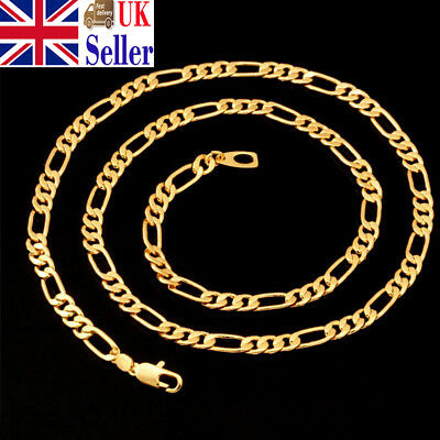 Lots 16-30inch Fashion Women Gold/Silver Plated Figaro Chain Necklace Pendants