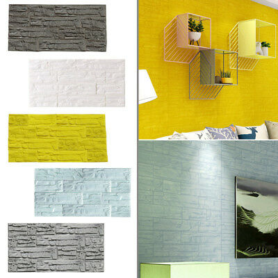 DIY 3D Brick PE Foam Wallpaper Panels Room Stone Decal Embossed Wall Stick GIFT