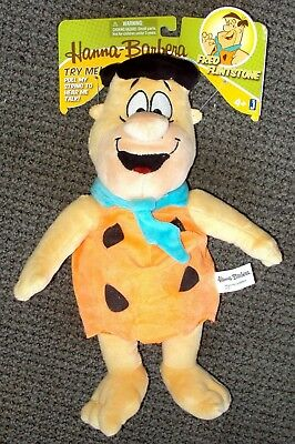 FRED FLINTSTONE Hanna Barbera FLINTSTONES Pull-string TALKING Plush Figure DOLL