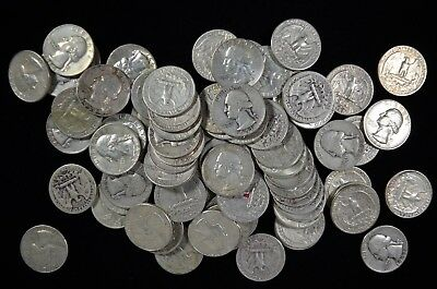 Lot of 40 Collectible Silver Washington Quarters $10 Face Value (WSQ.6)