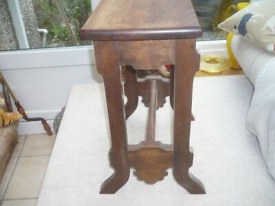Antique quality  solid wood ornate stool mahogany used as table Decorators item