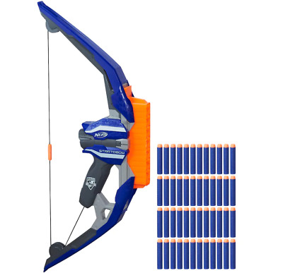 Nerf N-Strike Stratobow Bow-comes with 48 darts-Fire 15 darts in a row-Free Ship