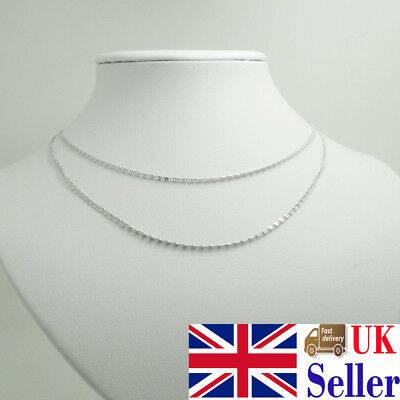 Fashion Silver Plated S Chain Necklace Pendant 16-30 Inch Silver Chain For Women