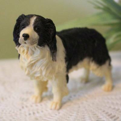 English Springer Spaniel Dog Figurine 3 inch Statue Resin Standing Up