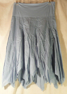 LIZ LANGE y  Women's asymmetrical Skirt Maternity(or not) fairy-like blue cotton