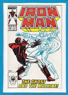 INVINCIBLE IRON MAN #219_JUNE 1987_VERY FINE_1st APP THE GHOST_JIM RHODES!